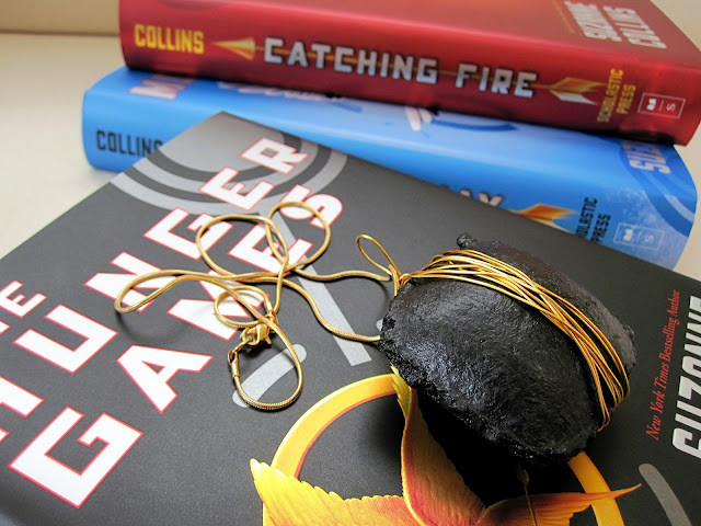 hunger games coal necklace