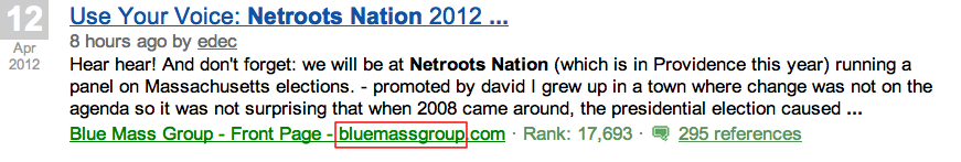 icerocket netroots nation search