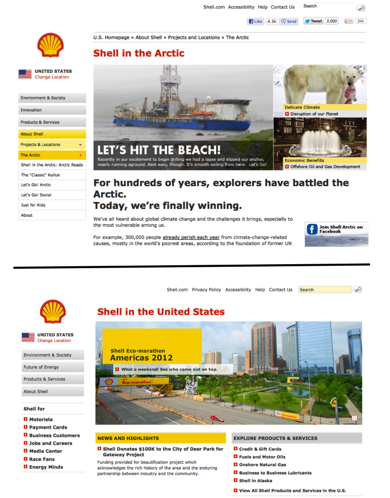 arcticready.com compared to shell.us