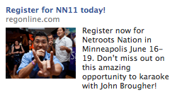 Netroots Nation 2011 Facebook Ad - Wacky Register