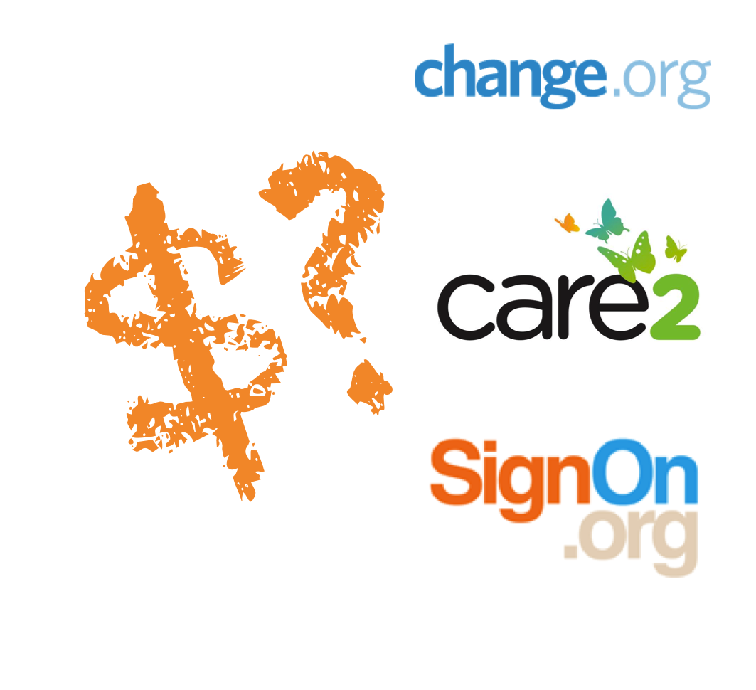 cost of acquisition change.org care2 signon.org